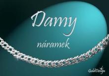 Damy - náramek stříbřený
