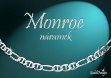 Monroe náramek stříbřený
