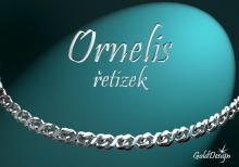 Ornelis 12 řetízek  stříbřený