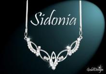 Sidonia - náhrdelník rhodium