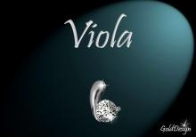 Viola - přívěsek rhodium