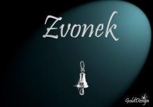 Zvoneček - přívěsek rhodium